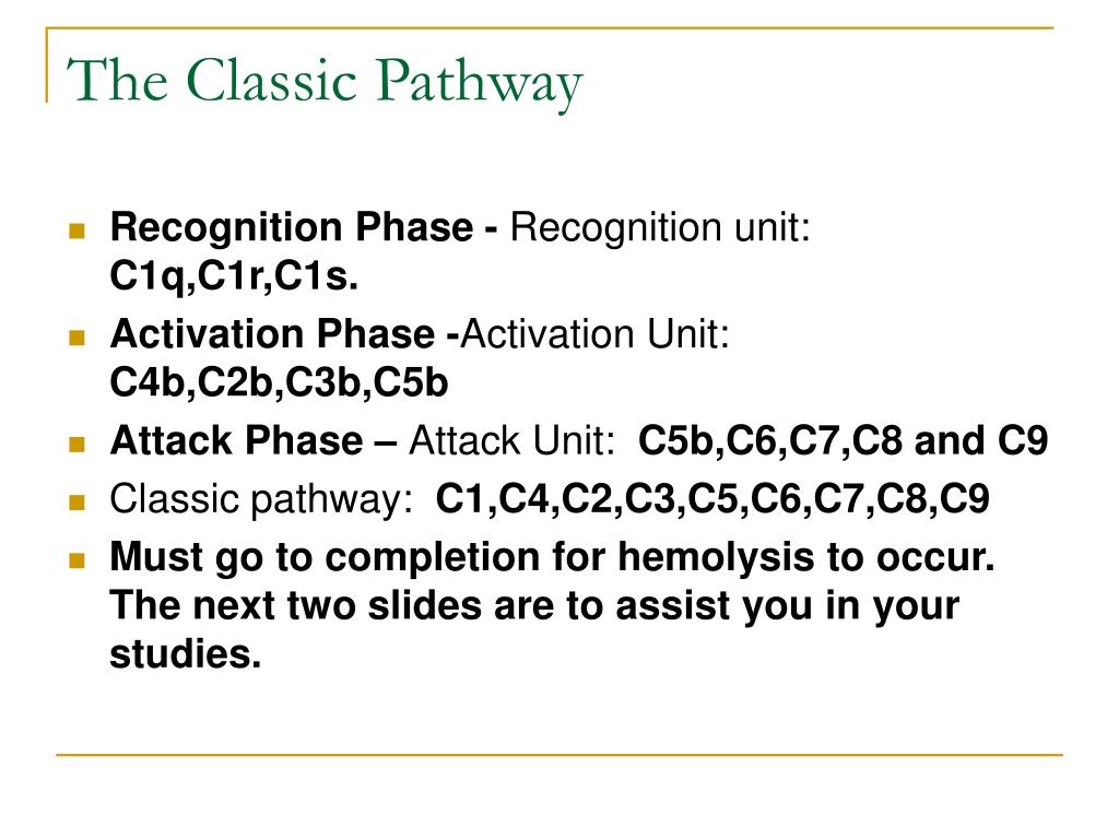 The Classic Pathway
