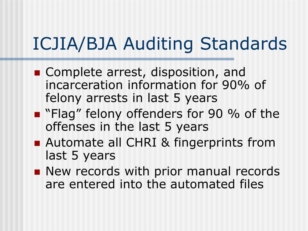 ICJIA/BJA Auditing Standards