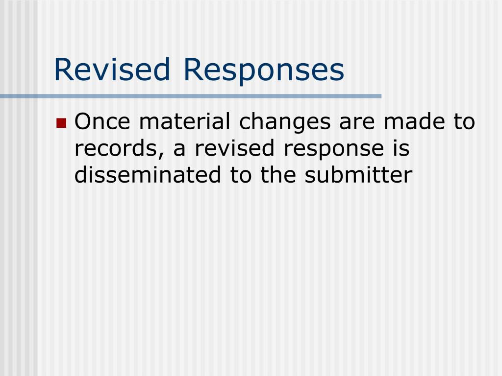 Revised Responses