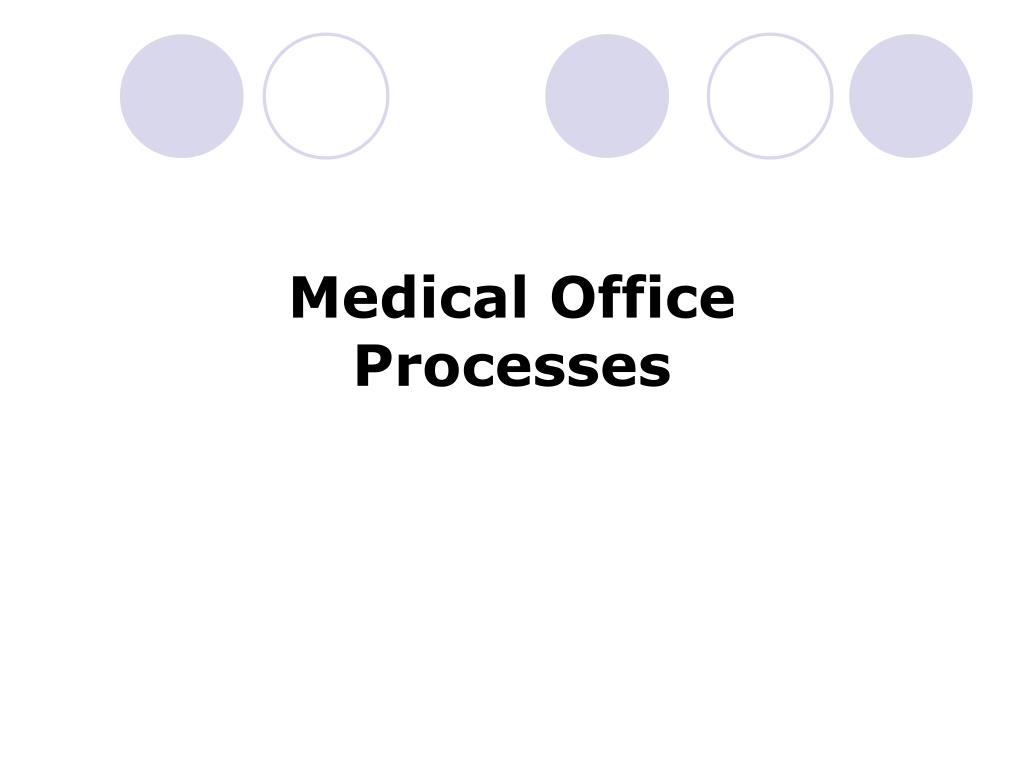 Medical Office Processes