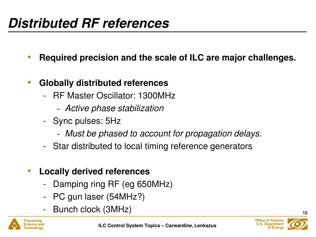 Distributed RF references
