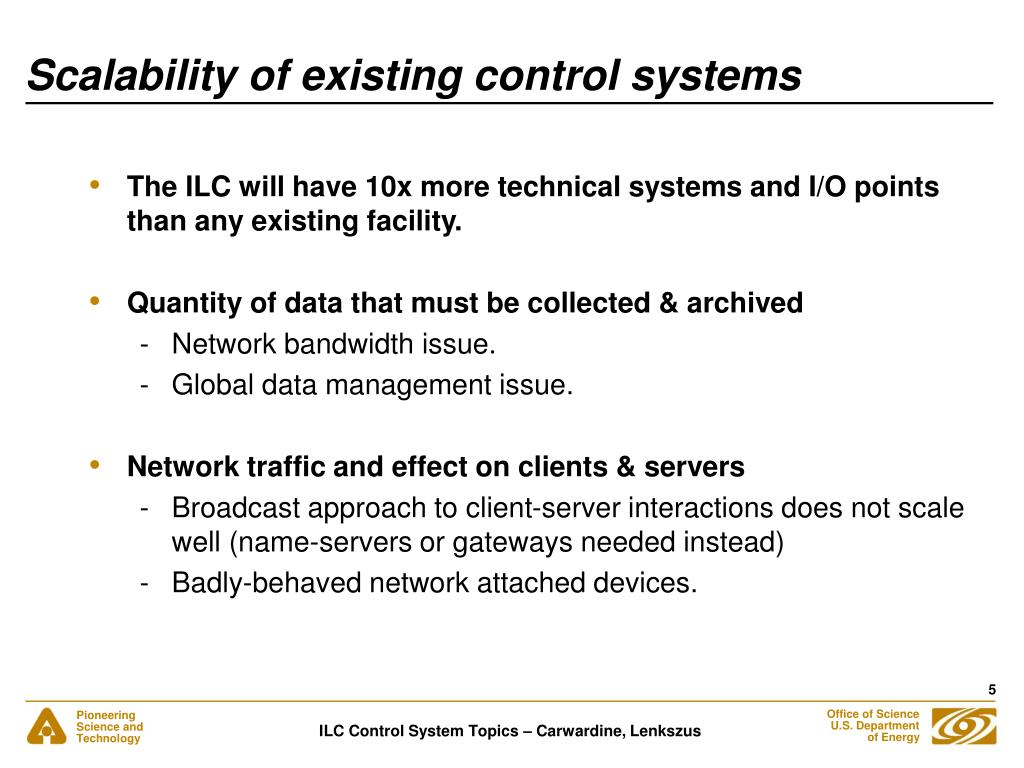 Scalability of existing control systems