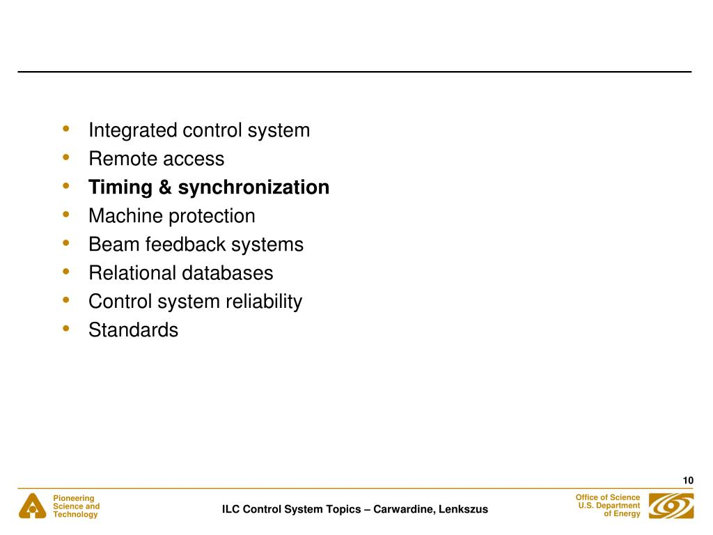 Integrated control system