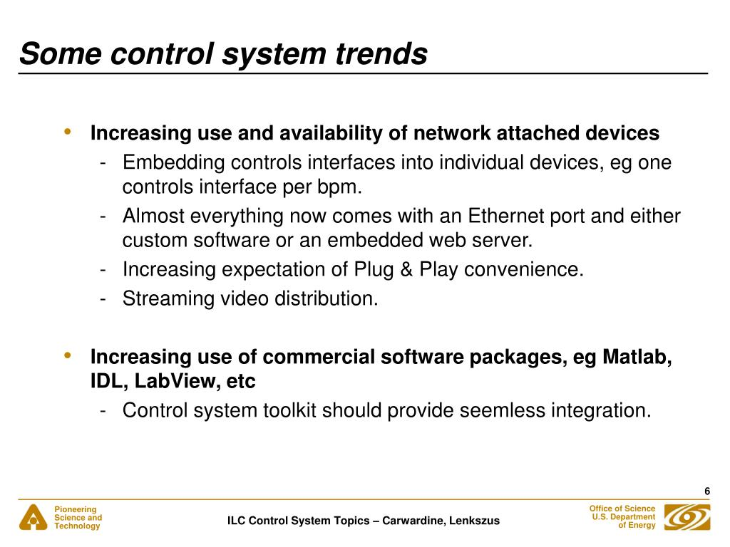 Some control system trends
