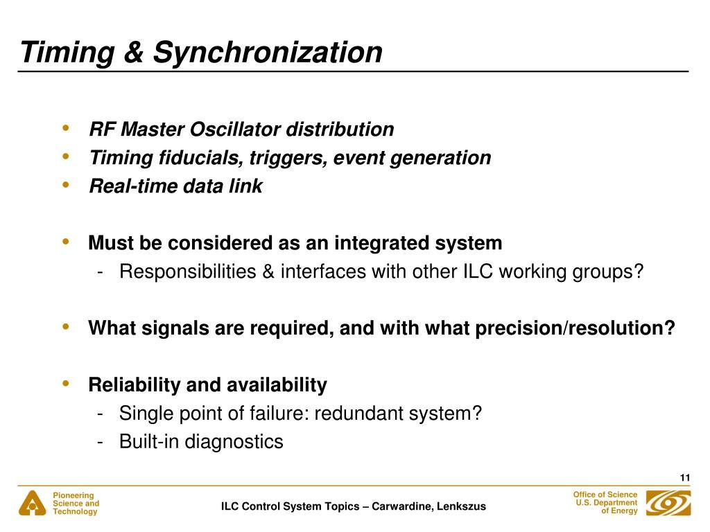 Timing & Synchronization