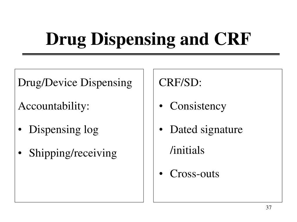 Drug/Device Dispensing