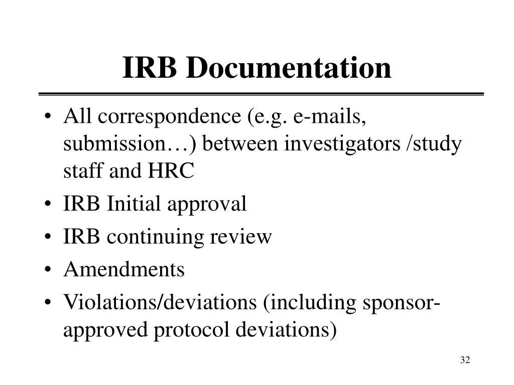 IRB Documentation