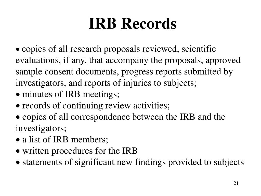IRB Records