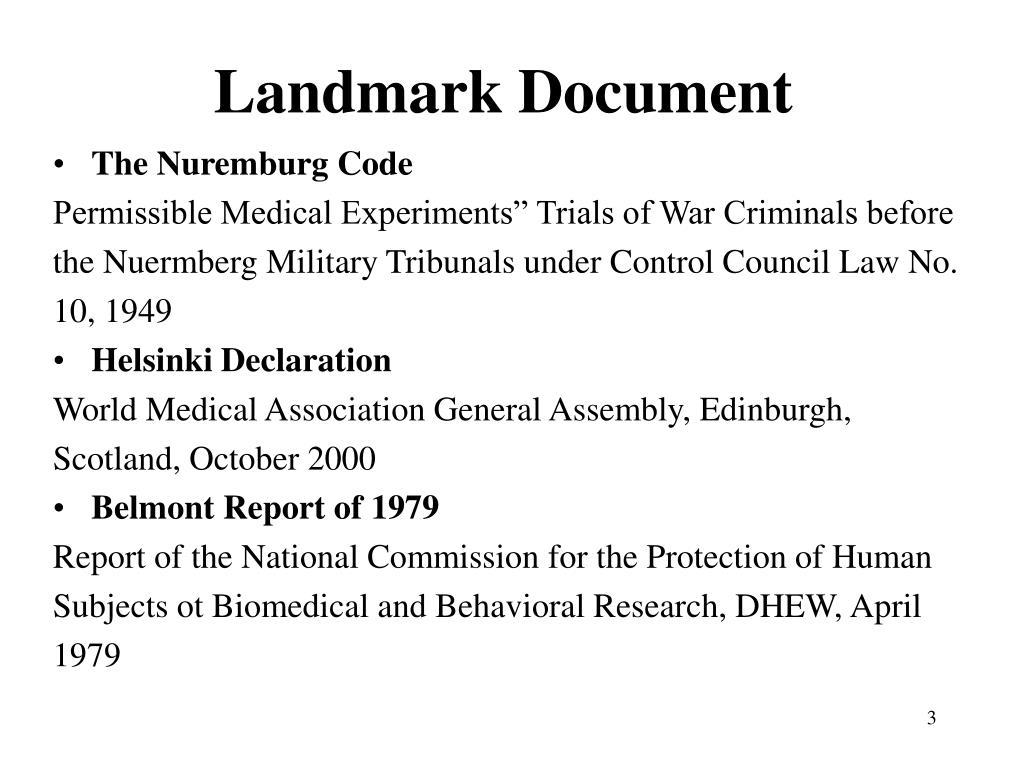 Landmark Document