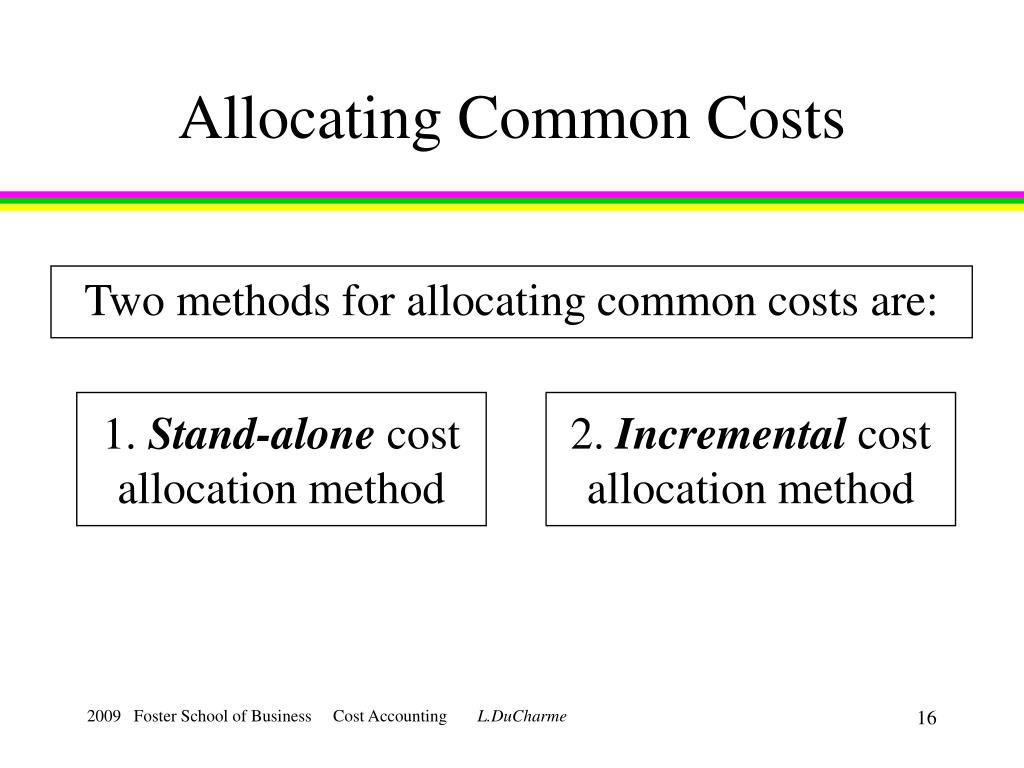 Allocating Common Costs