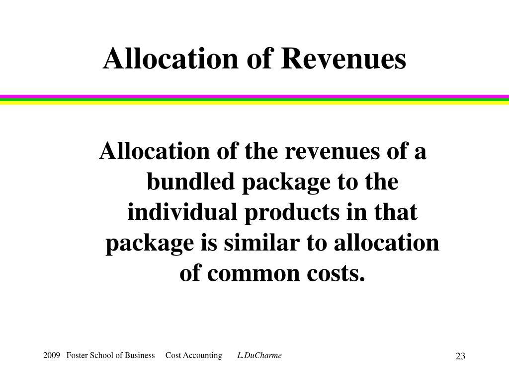 Allocation of Revenues