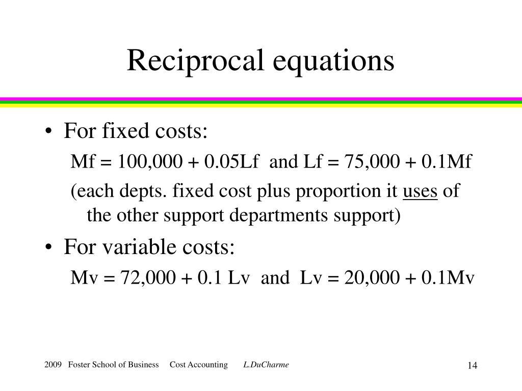 Reciprocal equations
