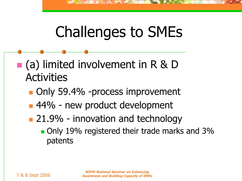 Challenges to SMEs