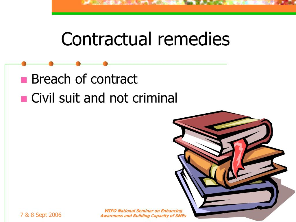 Contractual remedies