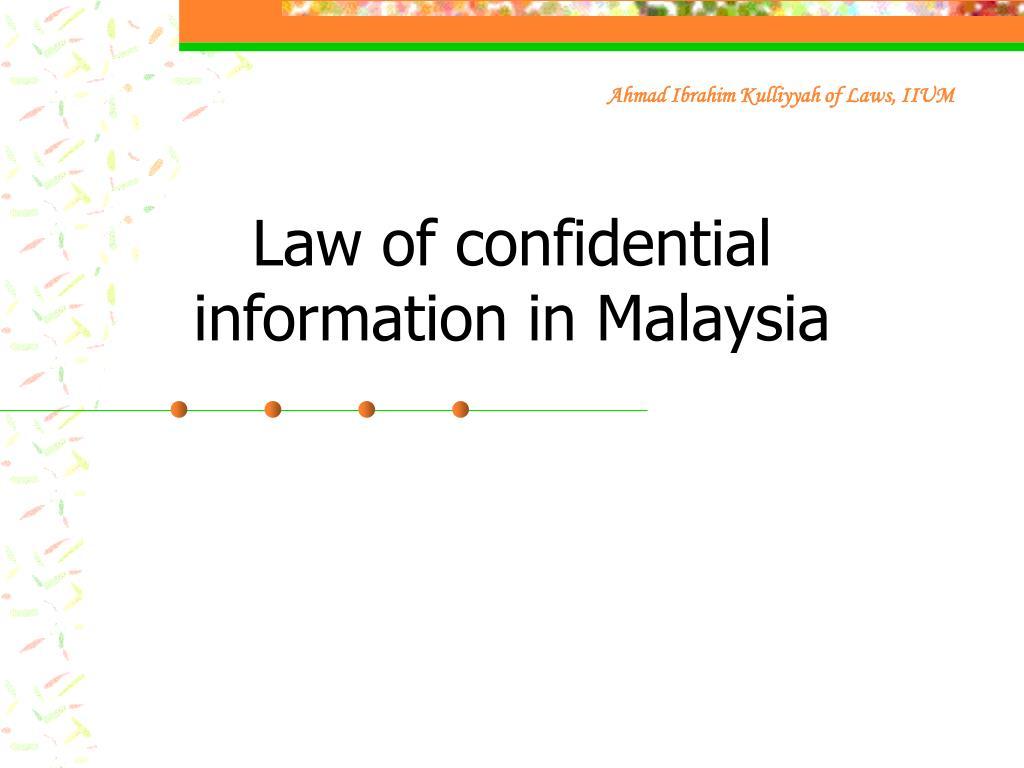 Ahmad Ibrahim Kulliyyah of Laws, IIUM