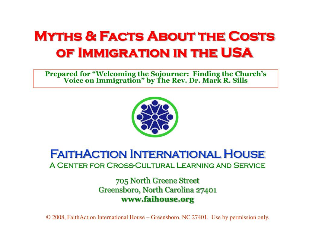 myths facts about the costs of immigration in the usa l.