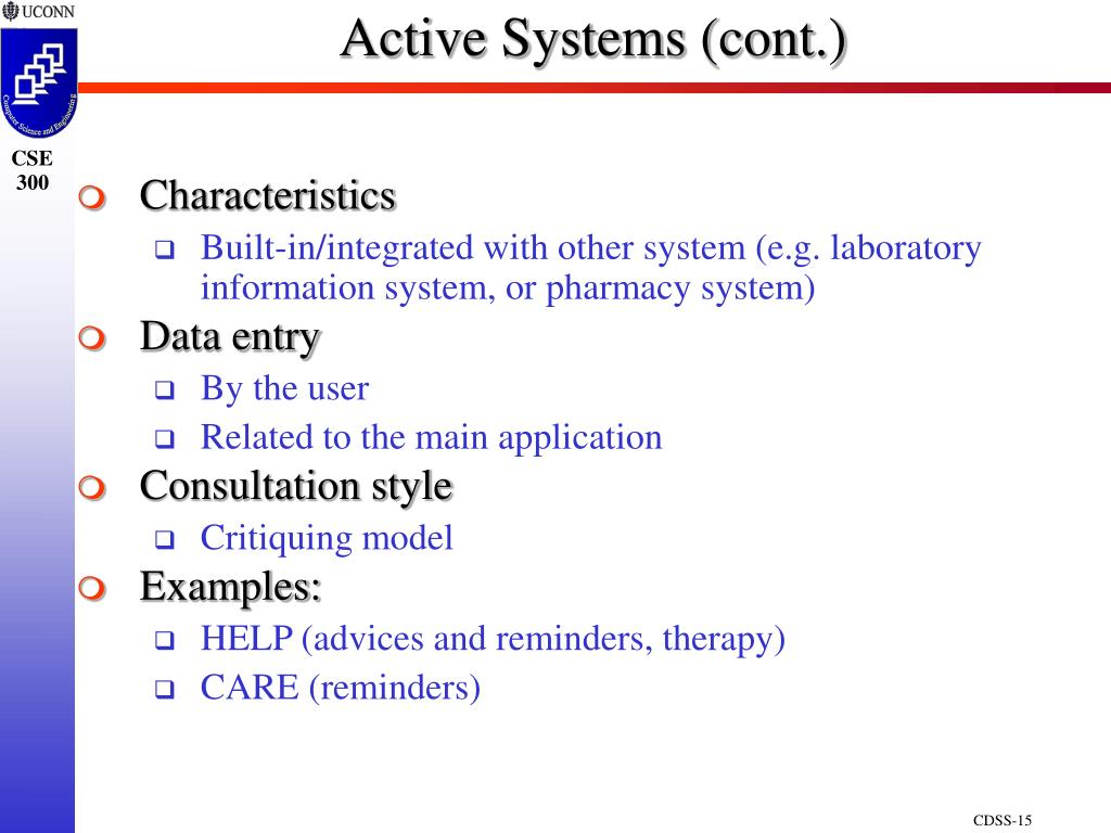 Active Systems (cont.)