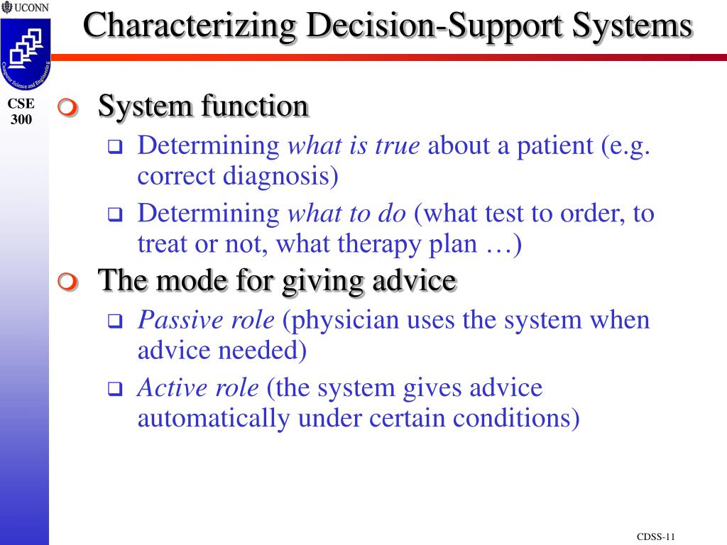 Characterizing Decision-Support Systems