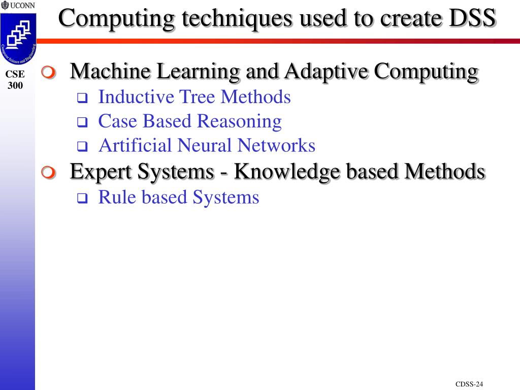 Computing techniques used to create DSS