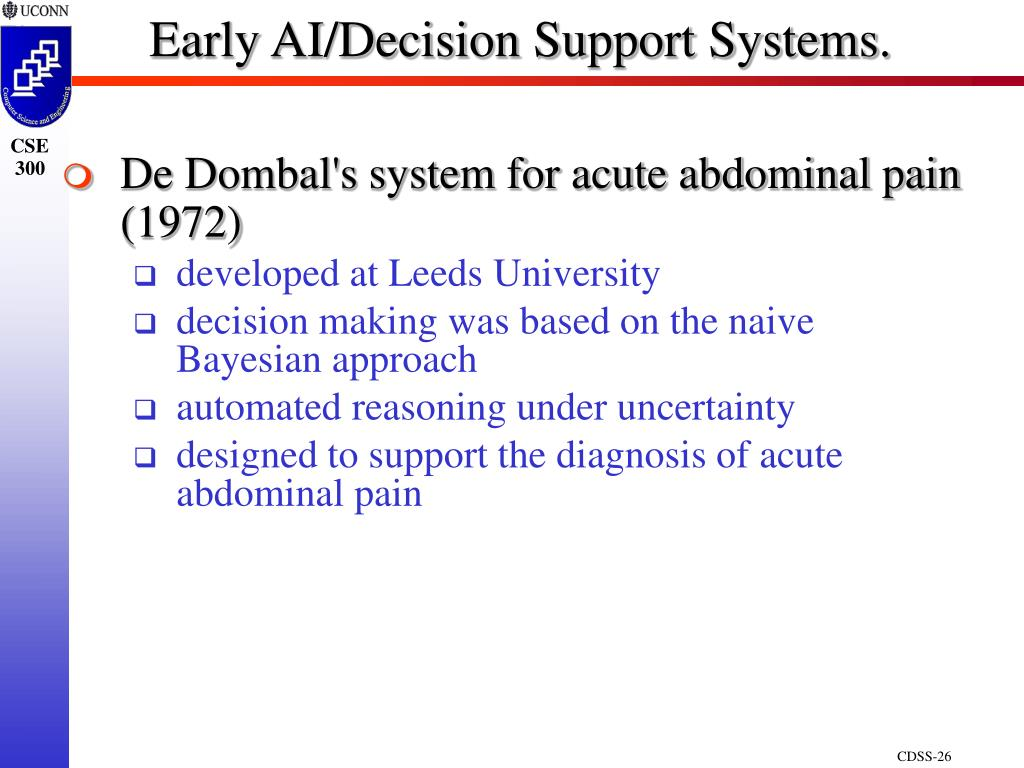 Early AI/Decision Support Systems.