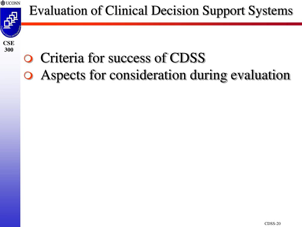 Evaluation of Clinical Decision Support Systems