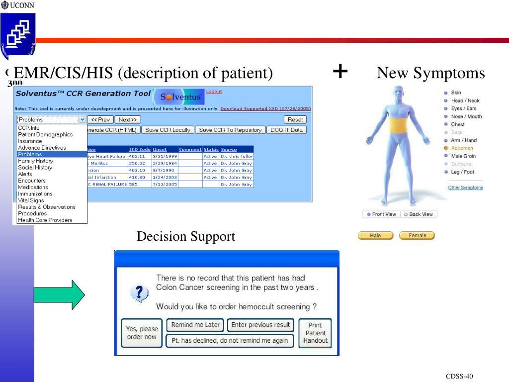EMR/CIS/HIS (description of patient)