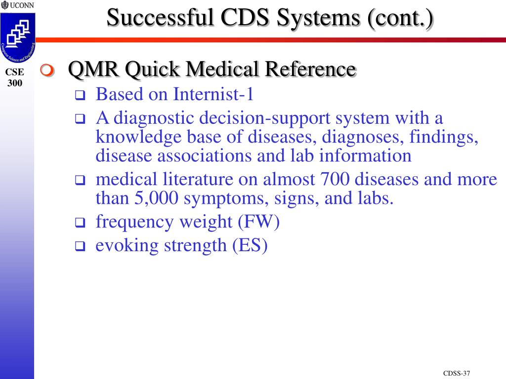 Successful CDS Systems (cont.)