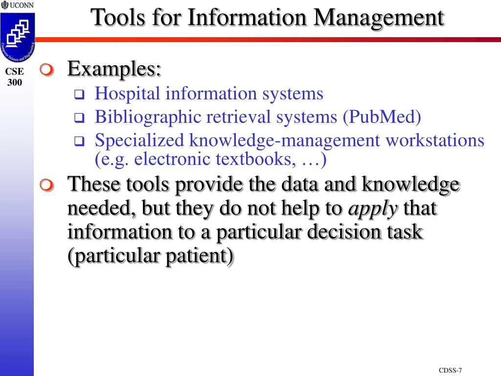 Tools for Information Management