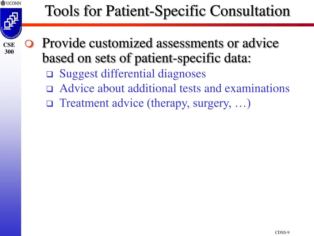 Tools for Patient-Specific Consultation