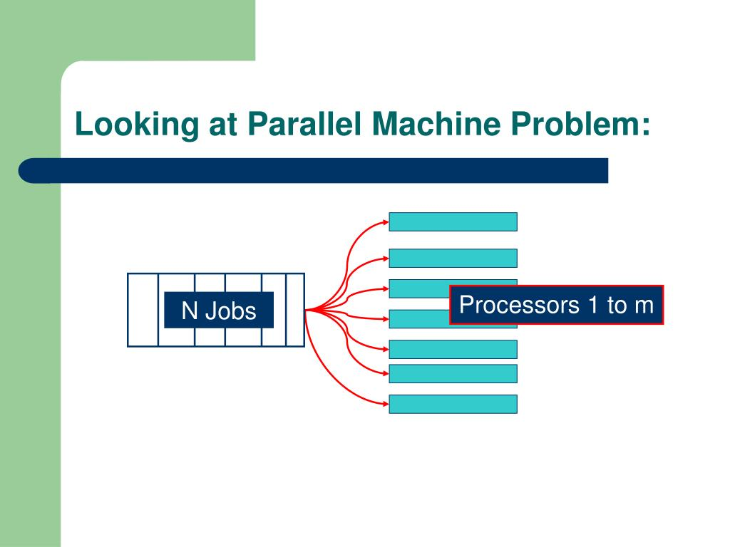 Looking at Parallel Machine Problem: