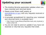 updating your account