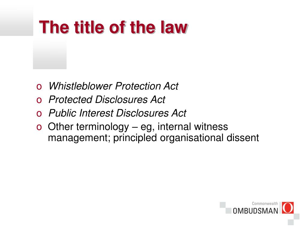 The title of the law