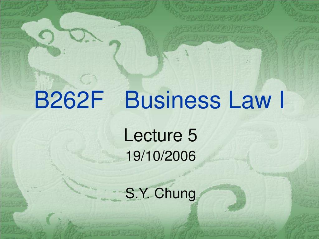 b262f business law i
