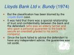 lloyds bank ltd v bundy 1974