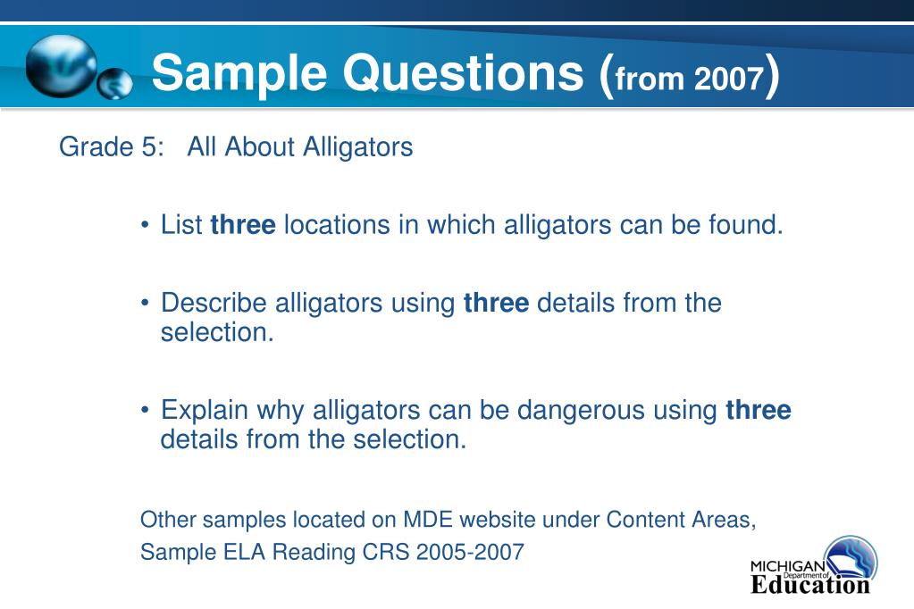 Sample Questions (