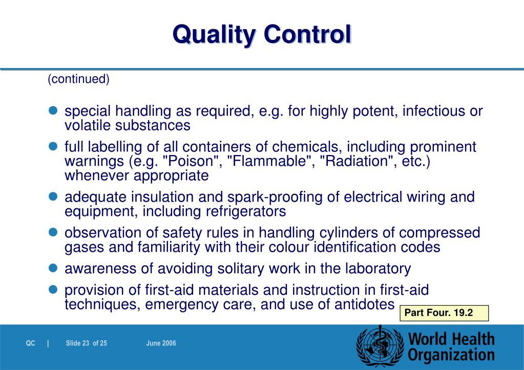 Quality Control