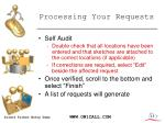 processing your requests
