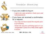 trouble shooting