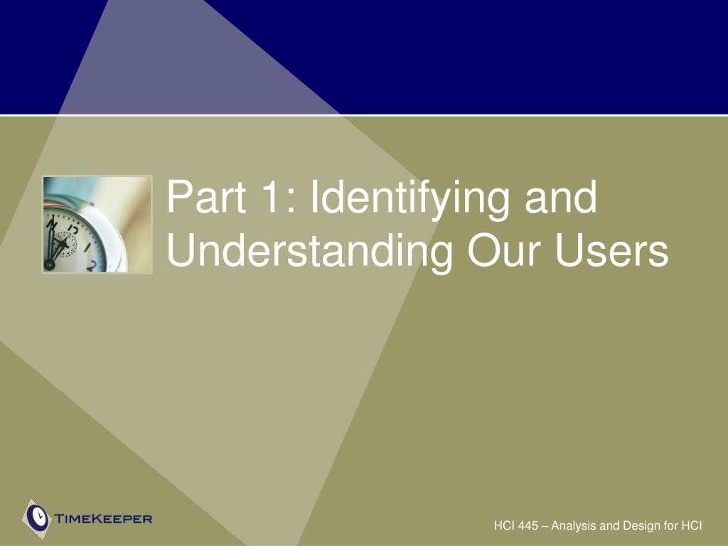 Part 1: Identifying and Understanding Our Users