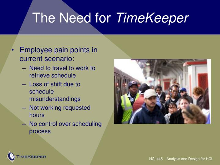 The need for timekeeper3