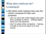 what does malware do continued24