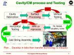 cavity cm process and testing