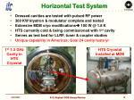 horizontal test system