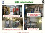 mdb infrastructure