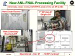 new anl fnal processing facility