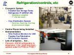 refrigeration controls etc