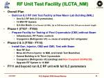 rf unit test facility ilcta nm