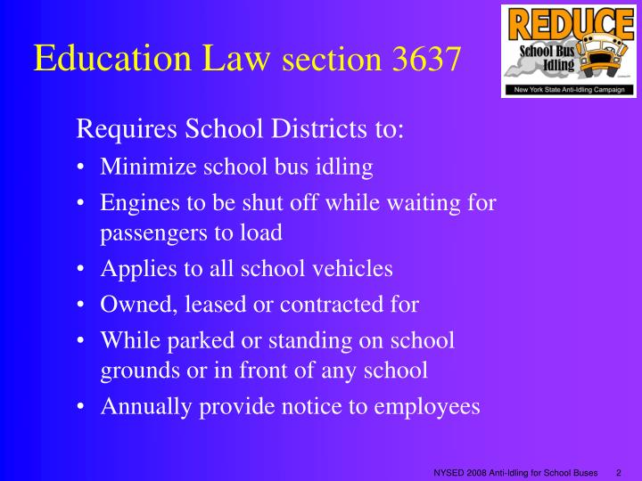 Education law section 3637