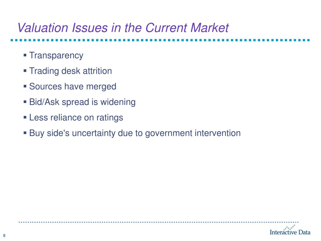 Valuation Issues in the Current Market