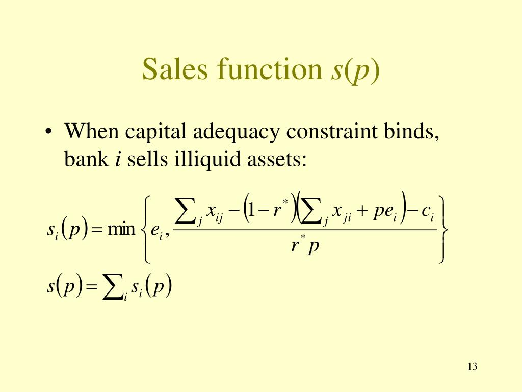Sales function